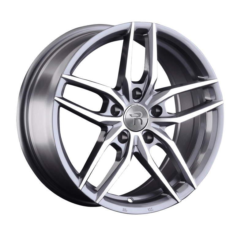 Диск колесный REPLAY A140 8,5xR19 5x112 ET32 ЦО66,6 серый глянцевый с полированной лицевой частью 042732-160019006