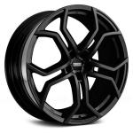 Диск колесный Fondmetal 9XR 10xR22 5x127 ET43 ЦО71,6 чёрный матовый и хромированные вставки 9XR J1022435127INB