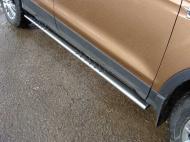 Пороги овальные с проступью TCC FORKUG17-30 Ford Kuga 2016-