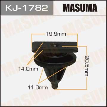 Клипса автомобильная (автокрепеж), уп. 50 шт. Masuma KJ-1782