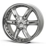 Диск колесный ANTERA 389 9.5xR20 6x139.7 ET12 ЦО106.1 серебристый с вставками карбон и полированным обод 826108