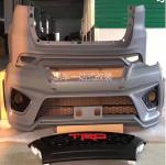 Передний и задний бамперы с решеткой радиатора TRD для Toyota Fortuner 2017-
