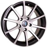 Диск колесный Venti 1603 6.5xR16 5x100 ET40 ЦО57.1 черный с полированной лицевой частью rd831718