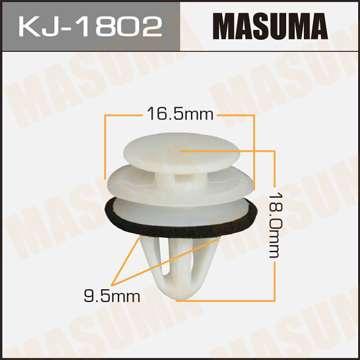 Клипса автомобильная (автокрепеж), уп. 50 шт. Masuma KJ-1802
