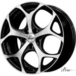 Диск колесный iFree Тортуга 7xR17 5x114.3 ET38 ЦО66.1 черный глянцевый с полированной лицевой частью 00026765