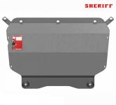 Защита картера и КПП Шериф, аллюминевая для Volkswagen Tiguan (2007 - 2016)