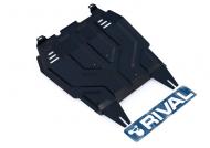 Защита картера и КПП (сталь, толщина 2 мм) Rival 111.04013.1