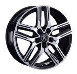 Диск колесный Replay TY314 7xR17 5x114.3 ET45 ЦО60.1 чёрный глянцевый с полированной лицевой частью 081559-160115004