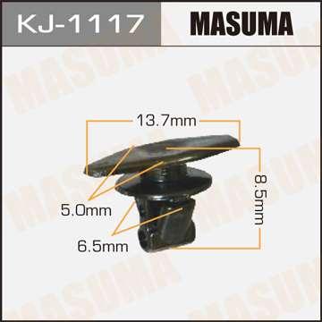 Клипса автомобильная (автокрепеж), уп. 50 шт. Masuma KJ-1117
