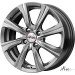 Диск колесный iFree Апероль 6xR15 4x100 ET45 ЦО60.1 серый темный глянцевый 365509