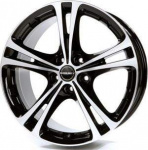 Диск колесный Borbet XL 8xR18 5x112 ET35 ЦО72.5 чёрный глянцевый с полированной лицевой частью 8136931