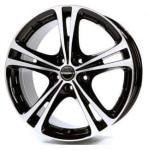 Диск колесный Borbet XL 7.5xR17 5x100 ET42 ЦО57.06 черный глянцевый с полированной лицевой частью 8136911