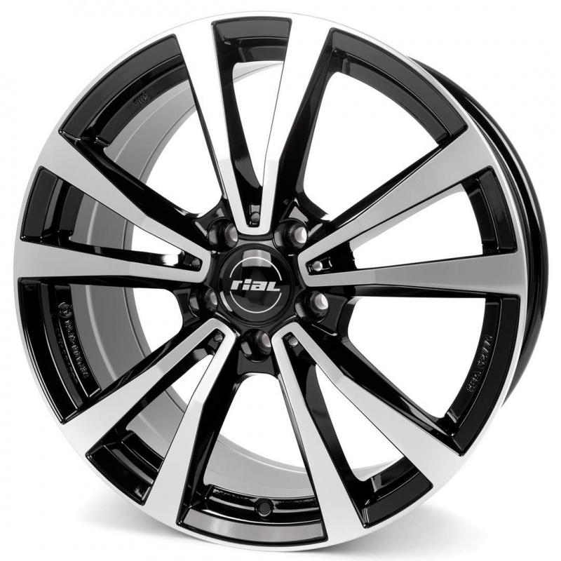 Диск колесный Rial M12 7,5xR18 5x112 ET49 ЦО66,5 черный глянцевый с полированной лицевой частью M12-75849M83-1