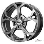 Диск колесный iFree Эрнесто 6,5xR15 5x112 ET35 ЦО66,6 серый тёмный глянцевый 205502