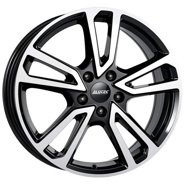 Диск колесный Alutec Tormenta 8xR19 5x112 ET43 ЦО66,6 черный глянцевый с полированной лицевой частью TMT80943M13-1