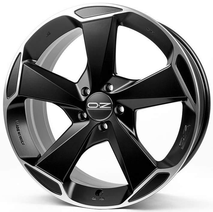 Диск колесный OZ Aspen HLT 9,5xR21 5x108 ET37 ЦО63,4 черный матовый с полированной лицевой частью W0199000454