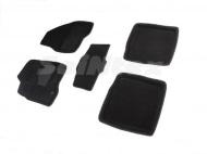 Коврики салона текстильные 3D, черные (до V3,5) Seintex 88356 Ford Explorer 2010 - 2015