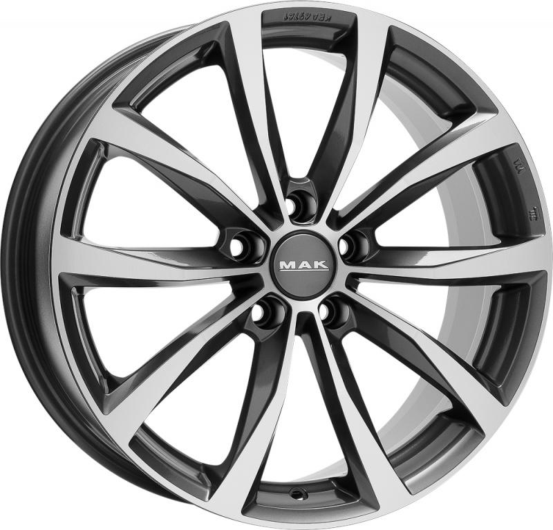 Диск колесный MAK Wolf 8xR19 5x112 ET54 ЦО66,6 серый с полированной лицевой частью F8090WFQM54WS5X