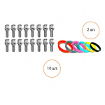 Комплект ATS 10 болтов, 2 кольца болт 12x1.5x30 19 конус кольцо 75x66.1 MP-288