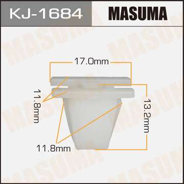 Клипса автомобильная (автокрепеж), уп. 50 шт. Masuma KJ-1684