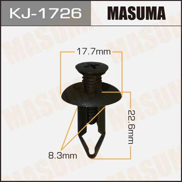Клипса автомобильная (автокрепеж), уп. 50 шт. Masuma KJ-1726