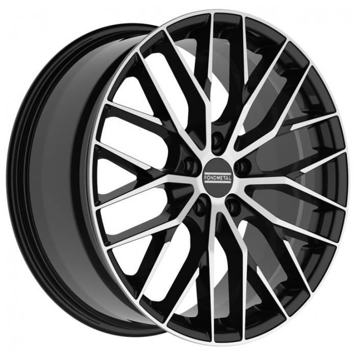 Диск колесный Fondmetal Makhai 10xR21 5x112 ET31 ЦО66,5 черный глянцевый с полированной лицевой частью FMI05J1021315112PNA2