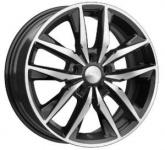 Диск колесный СКАД Тирион 6.5xR16 5x114.3 ET45 ЦО66.1 чёрный глянцевый с полированной лицевой частью 3460805