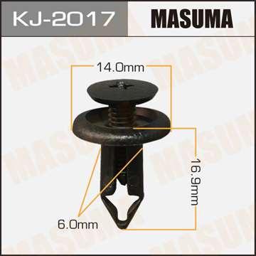 Клипса автомобильная (автокрепеж), 1 шт., Masuma KJ-2017