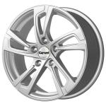 Диск колесный Carwel Вильент 128 6.5xR16 5x114.3 ET50 ЦО66.1 серебристый металлик 101878