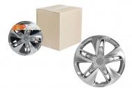 Колпак колеса декоративный AIRLINE серебристый - карбон Супер Астра