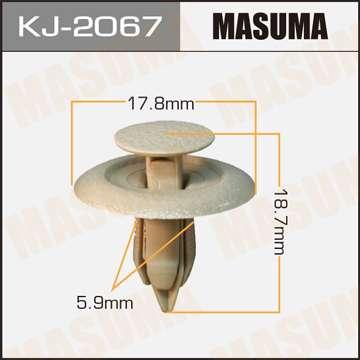 Клипса автомобильная (автокрепеж), 1 шт. Masuma KJ-2067