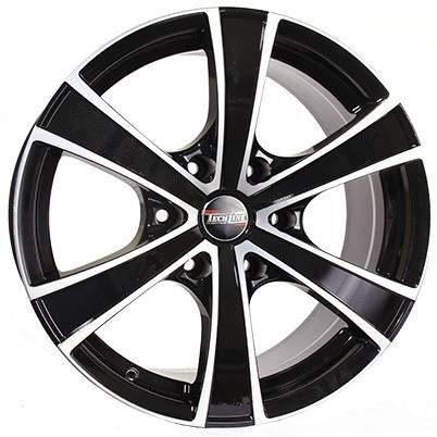 Диск колесный Tech-Line 803 8xR18 6x139,7 ET25 ЦО106,1 черный с полированной лицевой частью rd830678