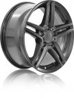 Диск колесный Rial M10 8xR18  5x112 ET43 ЦО66,5 серый тёмный M10-80843M17-9