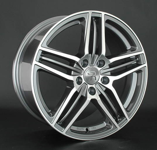 Диск колесный REPLAY A91 8xR17 5x112 ET39 ЦО66,6 серый глянцевый с полированной лицевой частью 030181-040019006