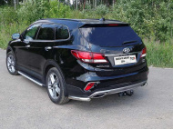 Защита задняя (уголки) TCC HYUNSFGR16-21 Hyundai Santa Fe 2018-2020