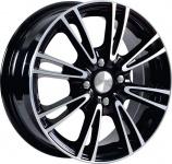 Диск колесный СКАД Пантера 5.5xR14 4x100 ET39 ЦО56.6 чёрный глянцевый с полированной лицевой частью 1110905