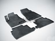 """Коврики салона резиновые с рисунком """"Сетка"""", черные (кроме версий с гибридным двигателем) Seintex 403 Lexus RX450 2003 - 2009"""