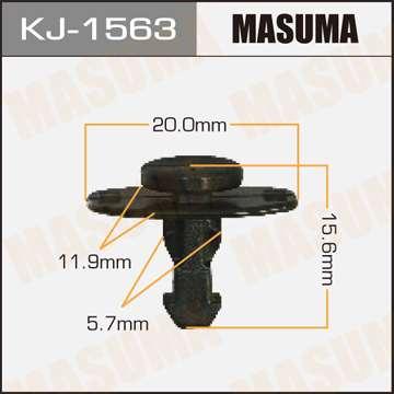 Клипса автомобильная (автокрепеж), уп. 50 шт. Masuma KJ-1563