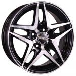 Диск колесный Tech-Line 430 5,5xR14 4x100 ET43 ЦО67,1 чёрный с полированной лицевой частью rd831157