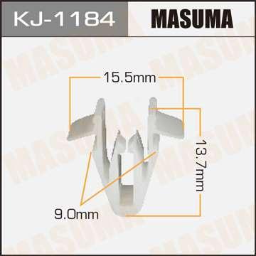 Клипса автомобильная (автокрепеж), уп. 50 шт. Masuma KJ-1184