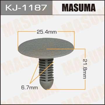 Клипса автомобильная (автокрепеж) салонная серая, 1 шт. Masuma KJ-1187