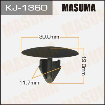 Клипса автомобильная (автокрепеж), уп. 50 шт. Masuma KJ-1360