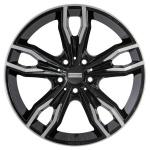 Диск колесный Fondmetal Alke 9,5xR20 5x120 ET44 ЦО72,5 глянцевый чёрный с обработкой FMI02 9520445120CNA2