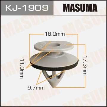 Клипса автомобильная (автокрепеж), уп. 50 шт. Masuma KJ-1909