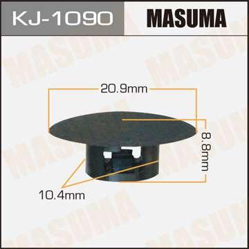 Клипса автомобильная (автокрепеж), уп. 50 шт. Masuma KJ-1090