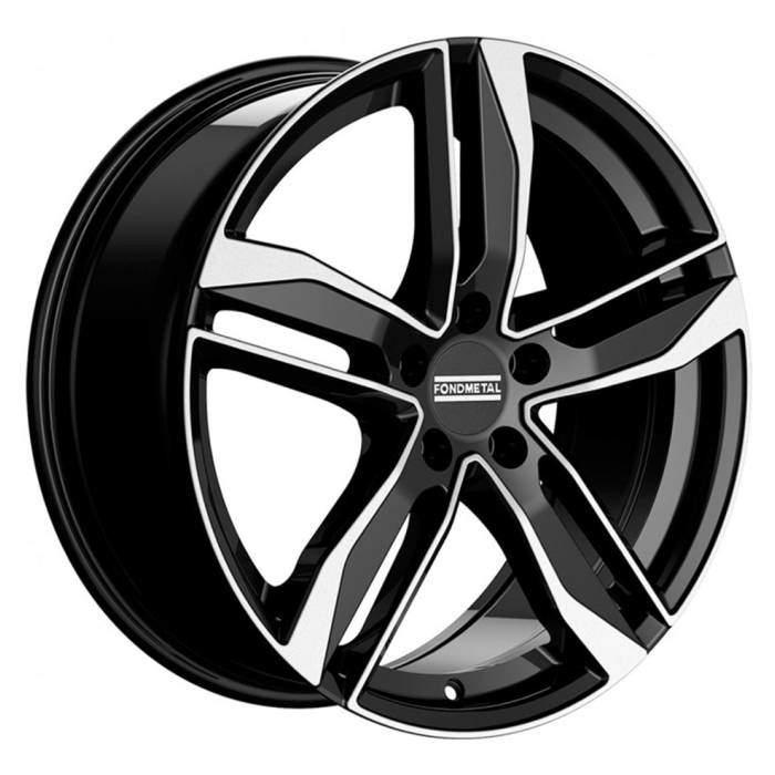 Диск колесный Fondmetal Hexis 8xR18 5x112 ET40 ЦО57,1 черный глянцевый с полированной лицевой частью FMI01 8018405112MNA2