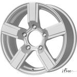 Диск колесный Tech-Line 626 6.5xR16 5x100 ЕТ38 ЦО67.1 черный с полированной лицевой частью T626-6516-671-5x100-38BD