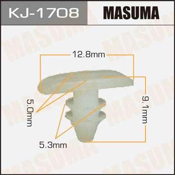 Клипса автомобильная (автокрепеж), уп. 50 шт. Masuma KJ-1708