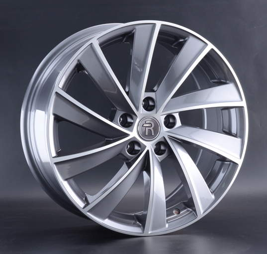 Диск колесный REPLAY MR243 8xR18 5x112 ET38 ЦО66,6 серый глянцевый с полированной лицевой частью 046649-040721006