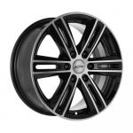 Диск колесный X'trike X-124 7,5xR17 6x114.3 ET30 ЦО67.1 черный полностью полированный 67581